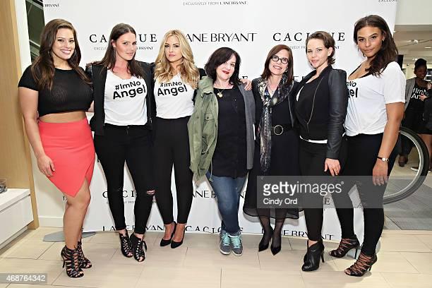 Model Ashley Graham model Candice Huffine model Justine LeGault designer Sophie Theallet Lane Bryant CEO Linda Heasley model Elly Mayday and model...