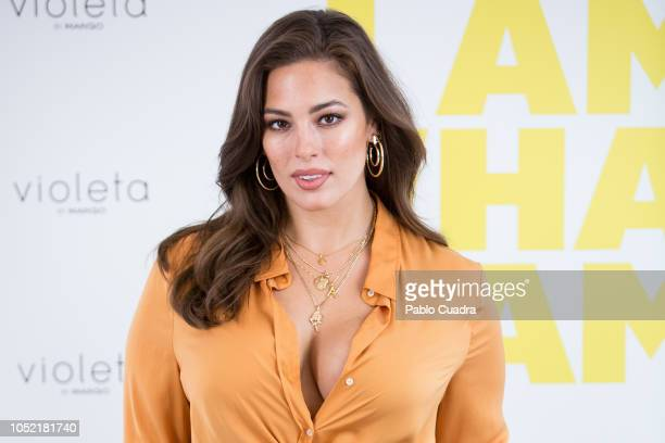 Model Ashley Graham presents 'Violeta By Mango' campaign at ABC Museum on October 15 2018 in Madrid Spain