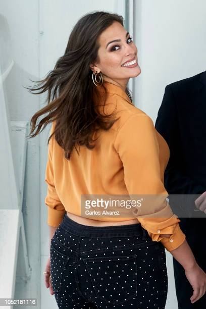 Model Ashley Graham presents 'Violeta By Mango' new campaign at the ABD Museum on October 15, 2018 in Madrid, Spain.