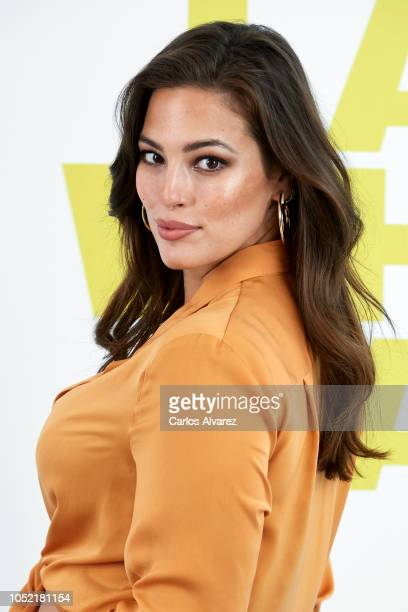 Model Ashley Graham presents 'Violeta By Mango' new campaign at the ABD Museum on October 15 2018 in Madrid Spain