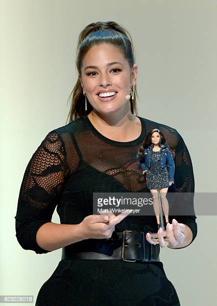 Model Ashley Graham reveals the new Barbie at Glamour Women Of The Year 2016 LIVE Summit at NeueHouse Hollywood on November 14 2016 in Los Angeles...