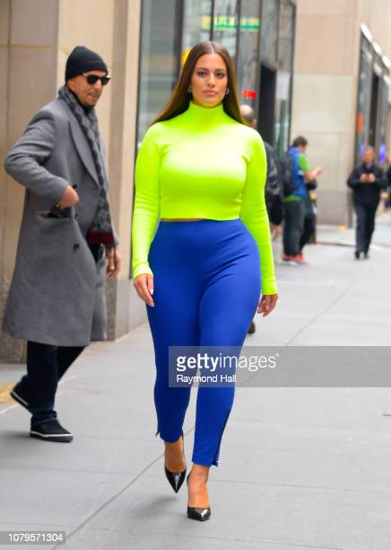 Model Ashley Graham seen outside the today show on January 9 2019 in New York City