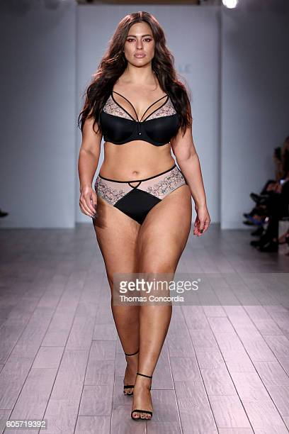 Model Ashley Graham walks the runway at Addition Elle Presents Holiday 2016 RTW Ashley Graham Lingerie Collection at Kia STYLE360 NYFW on September...
