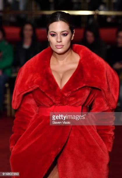 Model Ashley Graham walks the runway at Christian Siriano fashion show during the February 2018 New York Fashion Week on February 10 2018 in New York...
