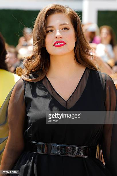 Model Ashley Graham walks the runway at the Christian Siriano X Lane Bryant Collection at United Nations on May 9 2016 in New York City