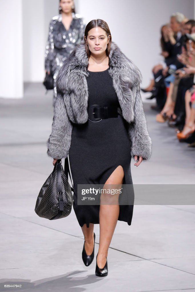 Model Ashley Graham walks the runway during the Michael Kors Collection Fall 2017 fashion show at Spring Studios on February 15, 2017 in New York City.
