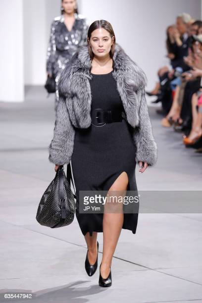 Model Ashley Graham walks the runway during the Michael Kors Collection Fall 2017 fashion show at Spring Studios on February 15 2017 in New York City