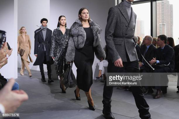 Model Ashley Graham walks the runway during the Michael Kors Collection Fall 2017 runway show at Spring Studios on February 15 2017 in New York City