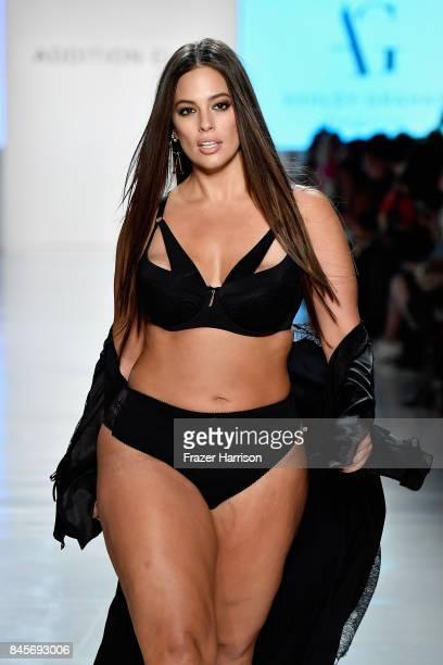 Model Ashley Graham walks the runway for ADDITION ELLE NYFW September 2017 Runway Presentation on September 11 2017 in New York City