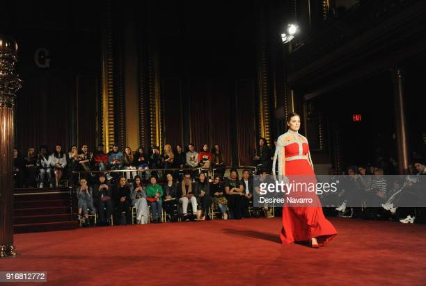 Model Ashley Graham walks the runway for the Christian Siriano fashion show during New York Fashion Week at the Grand Lodge on February 10 2018 in...