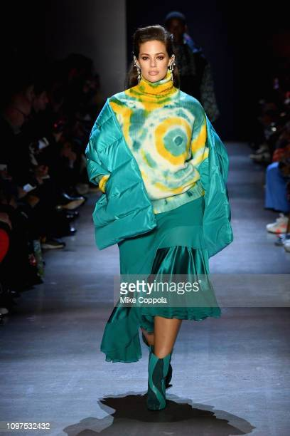 Model Ashley Graham walks the runway for the Prabal Gurung fashion show during New York Fashion Week The Shows at Gallery I at Spring Studios on...