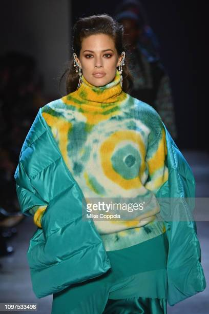 Model Ashley Graham walks the runway for the Prabal Gurung fashion show during New York Fashion Week: The Shows at Gallery I at Spring Studios on...