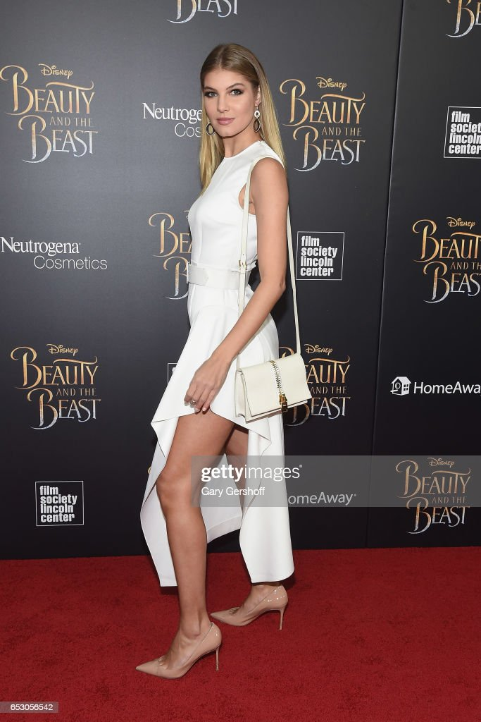 Model Ashley Haas attends the 'Beauty And The Beast' New York screening at Alice Tully Hall, Lincoln Center on March 13, 2017 in New York City.
