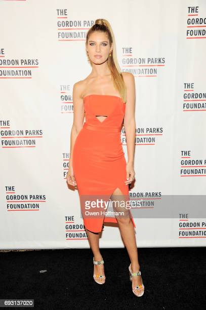 Model Ashley Haas attends the Gordon Parks Foundation Awards Dinner Auction at Cipriani 42nd Street on June 6 2017 in New York City