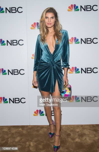 Model Ashley Haas attends the NBC and The Cinema Society Party for the casts of NBC's 20182019 Season at the Four Seasons Restaurant on September 20...