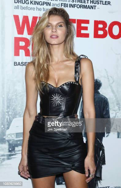 Model Ashley Haas attends the New York special screening of White Boy Rick hosted by Columbia Pictures and Studio 8 at the Paris Theater on September...