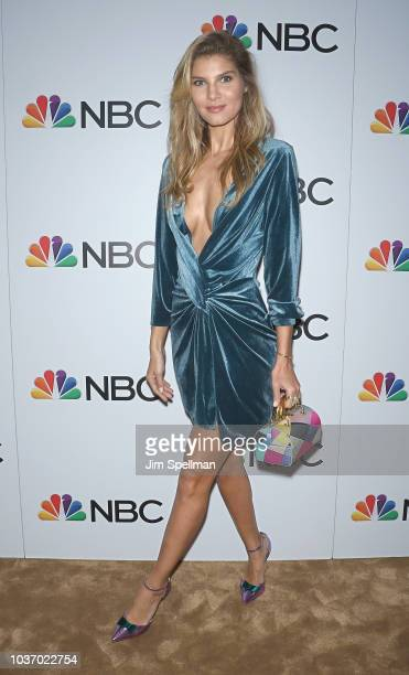 Model Ashley Haas attends the party for the casts of NBC's 20182019 Season hosted by NBC and The Cinema Society at Four Seasons Restaurant on...
