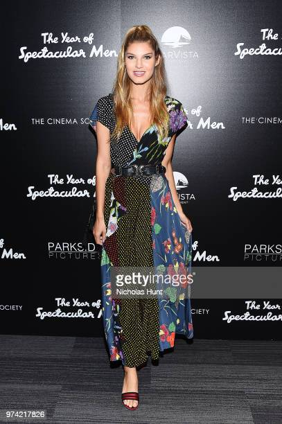 Model Ashley Haas attends 'The Year Of Spectacular Men' New York Premiere at The Landmark at 57 West on June 13 2018 in New York City