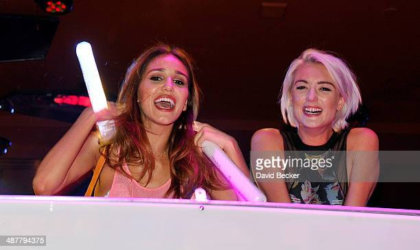 Model Ashley Sky Amanda Del Duca appears during the Encore Beach Club at Night launch at the Encore Beach Club at Wynn Las Vegas on May 1 2014 in Las...