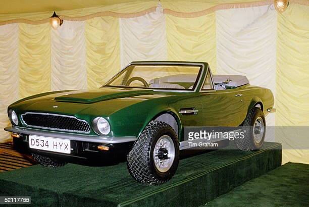 Model Aston Martin V8 Volante Convertible Sports Car At Aston Martin's Factory Newport Pagnell Northamptonshiremade For Prince William As A Gift It...