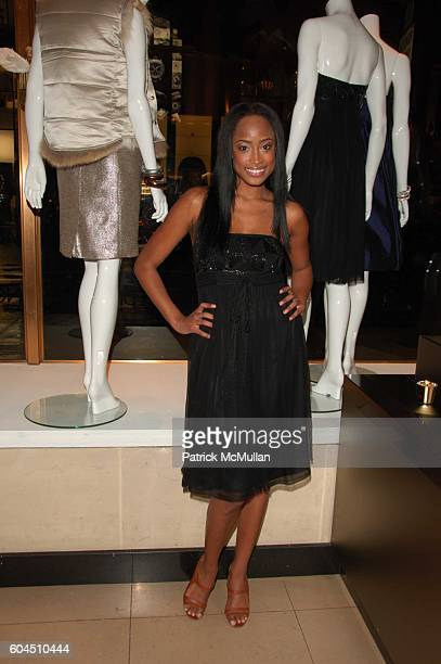 Model at Adam Lippes creator of AdamEve and Ann Watson Fashion Director of Henri Bendel host Get Dressed for the Holidays at Henri Bendel on November...
