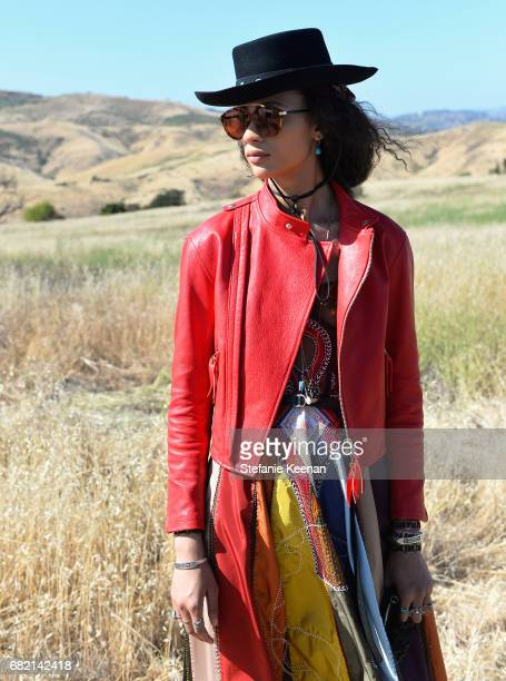 A model at Christian Dior Cruise 2018 Show and After Party at Gladstone's Malibu on May 11 2017 in Malibu California
