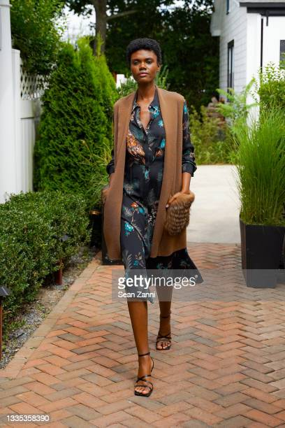 Model at Samuel Waxman Cancer Research Foundation Collaborating For A Cure Luncheon Honoring Jean Shafiroff at T-Bar Southampton on August 20, 2021...