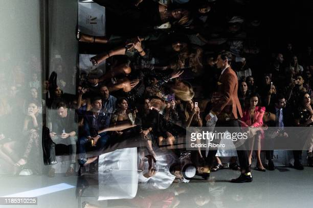 A model at the Behnoode show during the FFWD October Edition 2019 at the Dubai Design District on November 02 2019 in Dubai United Arab Emirates