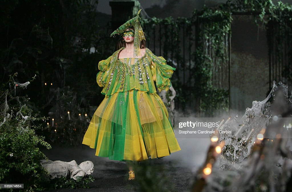 Model at the Christian Dior 2005-2006 Fall/Winter Haute Couture fashion show.