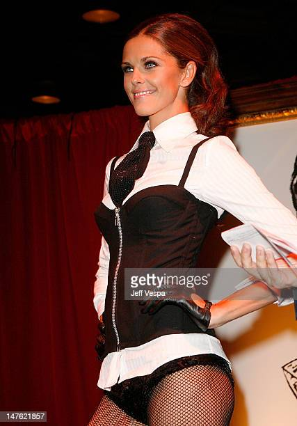 A Model at the Fredericks of Hollywood Auction to Benefit Clothes Off Our Backs at the Fredricks of Hollywood store on October 25 2007 in Hollywood...