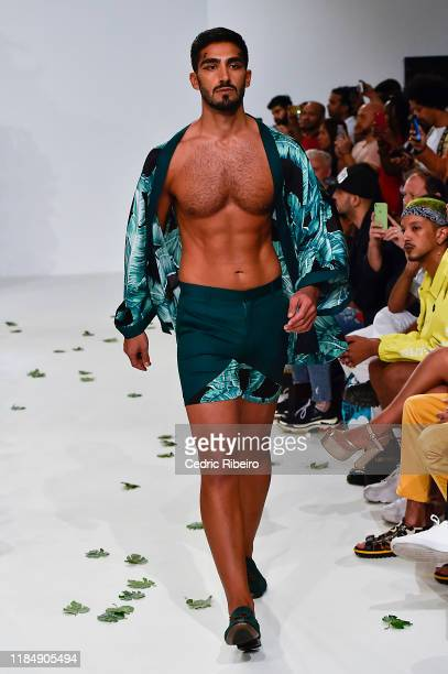 A model at the Varoin Marwah show during the FFWD October Edition 2019 at the Dubai Design District on November 01 2019 in Dubai United Arab Emirates