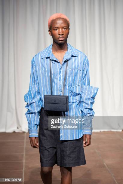 Model at the William Fan fashion show at Kunstgewerbemuseum on July 4 2019 in Berlin Germany