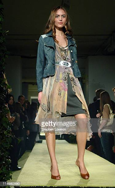 Model at Vogue First Look during MercedesBenz Fashion Week Fall 2007 Vogue First Look Runway at Philips de Pury Gallery in New York City New York...