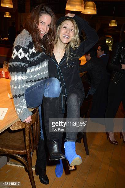 Model Athena Zelcovich and Tristane Banon attend the Gael Leforestier and Les Monsieur Blanchet band Concert at the Comptoir du Marche on December 19...