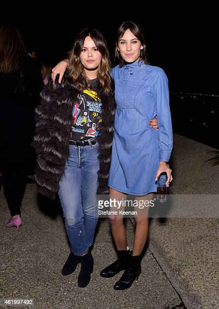 Model Atlanta de Cadenet Taylor and Model/British Vogue contributing editor Alexa Chung attend the Alexa Chung for AG Los Angeles launch party at a...