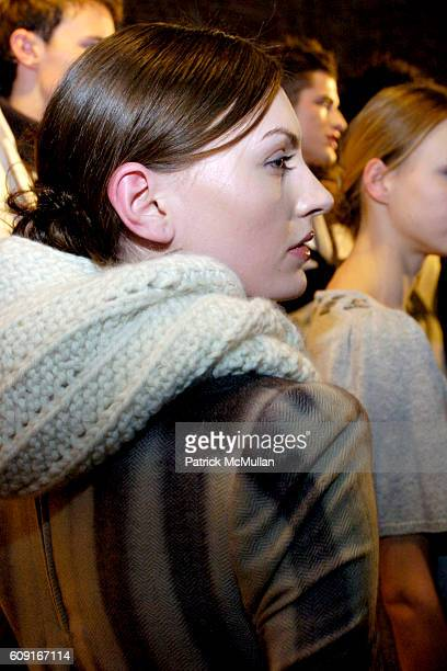 Model attends Adam Eve at Jane Street Studios on February 5 2007 in New York City