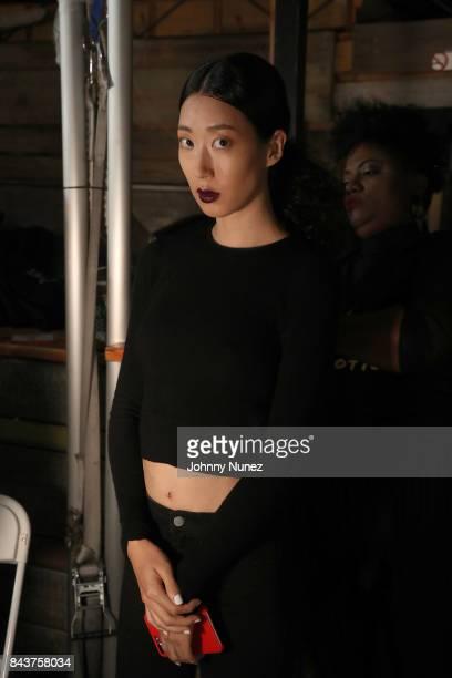 Model Attends Harlem's Fashion Row at La Marina Restaurant Bar Beach Lounge on September 6 2017 in New York City