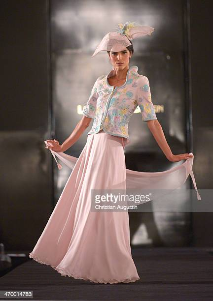 Model attends Liz Malraux Fashion Show at Hotel Atlantic on February 17 2014 in Hamburg Germany