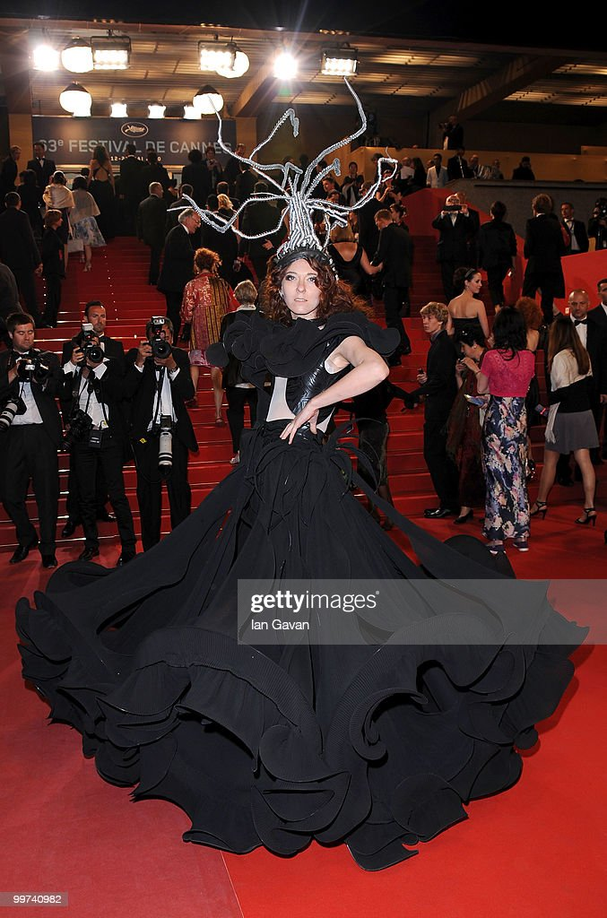 A model attends 'Outrage' Premiere at the Palais des Festivals during the 63rd Annual Cannes Film Festival on May 17, 2010 in Cannes, France.