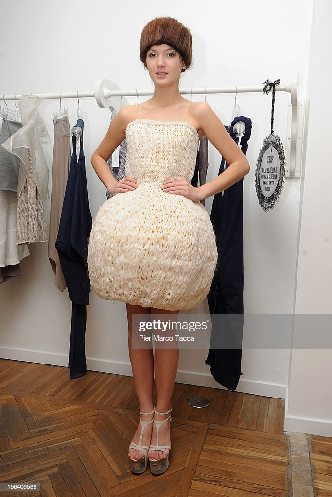 A model attends Russian Fashion Festival on November 14, 2012 in Milan, Italy.