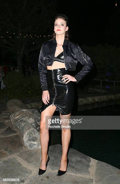 Model attends the Accelerate4Change charity event presented by Dr Ben Talei Cinemoi on August 29 2015 in Beverly Hills California