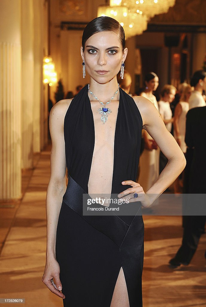 A model attends the Bulgari Diva Event at Hotel Potocki on July 2, 2013 in Paris, France.
