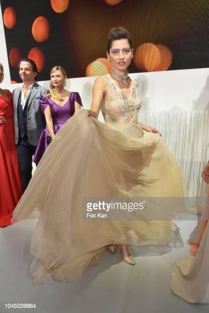 A model attends the Christophe Guillarme show as part of the Paris Fashion Week Womenswear Spring/Summer 2019 on October 2 2018 in Paris France