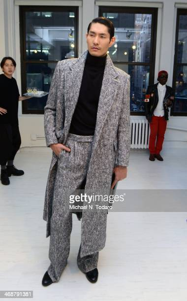 Model attends the Kim Seo Ryong presentation during MercedesBenz Fashion Week Fall 2014 on February 11 2014 in New York City