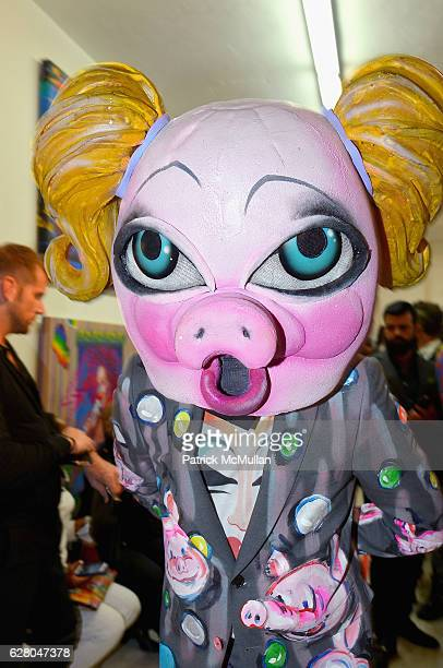 Model attends the Patricia Field Art Basel Debut with Art Fashion Pop Up and Runway Presentation at The White Dot Gallery in Wynwood on December 1...