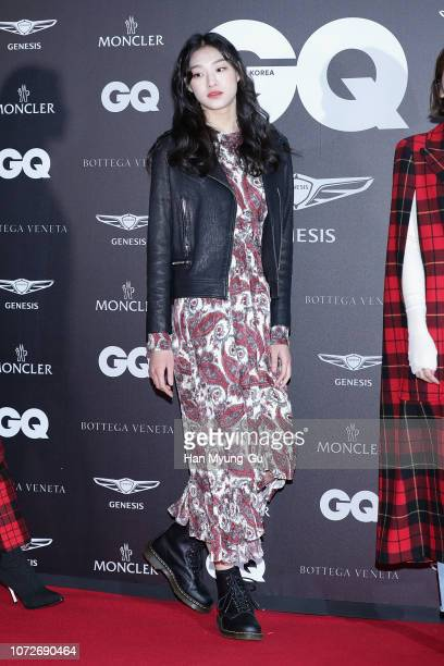 Model attends the photocall for GQ Korea '2018 GQ Night' on December 13 2018 in Seoul South Korea