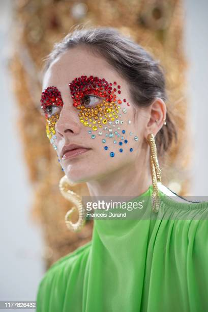 Model attends the Schiaparelli Presentation as part of Paris Fashion Week on September 29, 2019 in Paris, France.