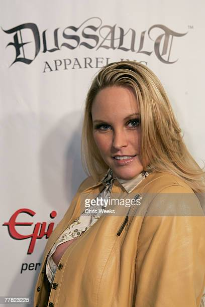 Model Audra Lynn attends a party launching Dussault Apparel's concept store on Melrose Avenue on November 8 2007 in Los Angeles California