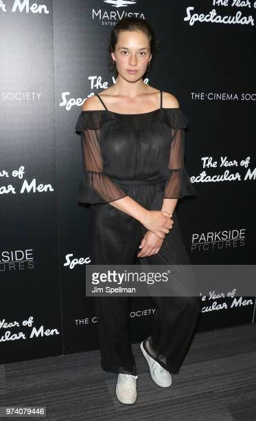 Model Audrey Blondin attends the screening of 'The Year Of Spectacular Men' hosted by MarVista Entertainment and Parkside Pictures with The Cinema...