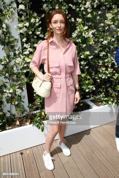 Model Audrey Marnay attend the 2018 French Open Day Five at Roland Garros on May 31 2018 in Paris France